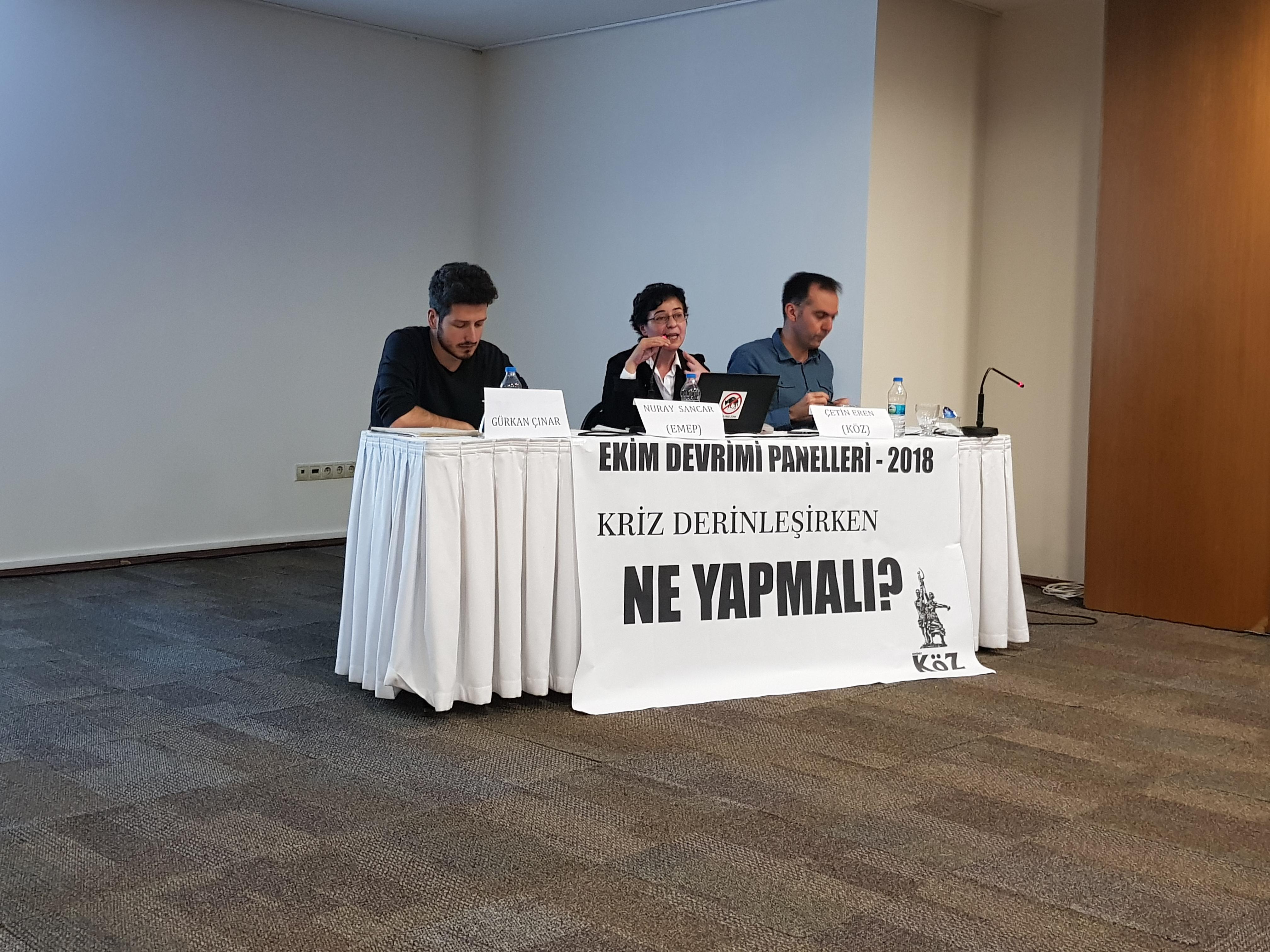 Ekim Devrimi Tartışmaları 2018 Izmir Kriz Derinleşirken Ne